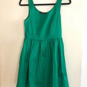 Emerald green A-line dress